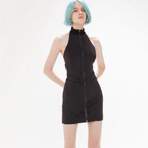 I.AM.GIA iris high neck black mini dress